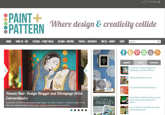 Paint+Pattern Design Magazine Home Page