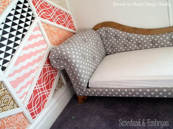 Do It Yourself Home Design: Inspiration For Stencils, Stenciling, Patterns And DIY