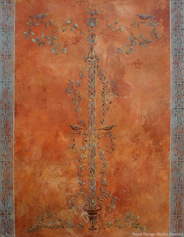 Royal Recipe from Royal Design Studio: How to Stencil Tutorial - Old World Italian and Pompeii Plaster Wall Finish with Wall Stencils