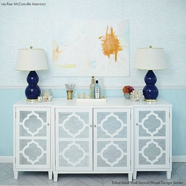 Update Your Home with Trendy Stenciled Walls - Royal Design Studio Wall Stencils and DIY Decor Ideas