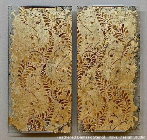 Create Custom Metal Leaf and Gilded Wall Art with Stencils
