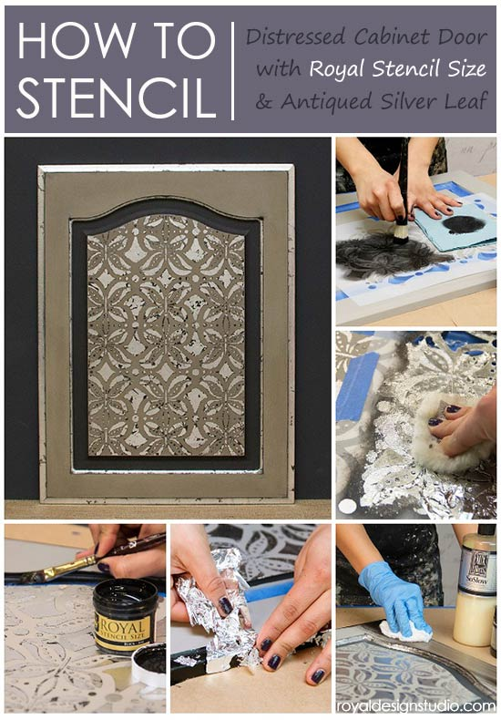How to stencil and gild with Royal Stencil Size over Chalk Paint® decorative paint
