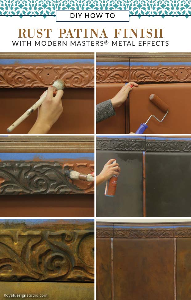How to create a rust patina finish on furniture with Modern Masters Metal Effect Rust Finish