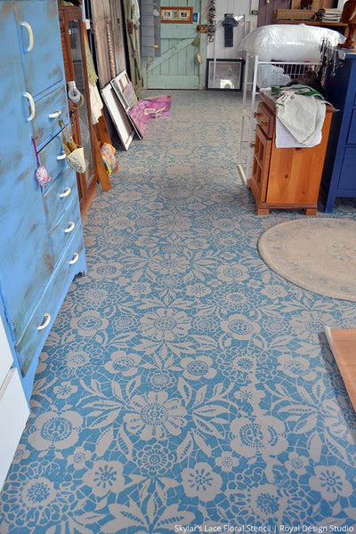 stylish painted and stenciled floors for your next diy