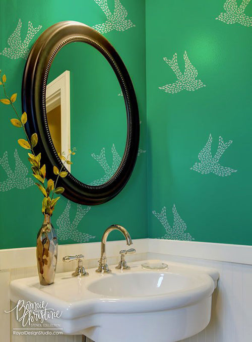 Stenciled Wall Motif Ideas | Royal Design Studio