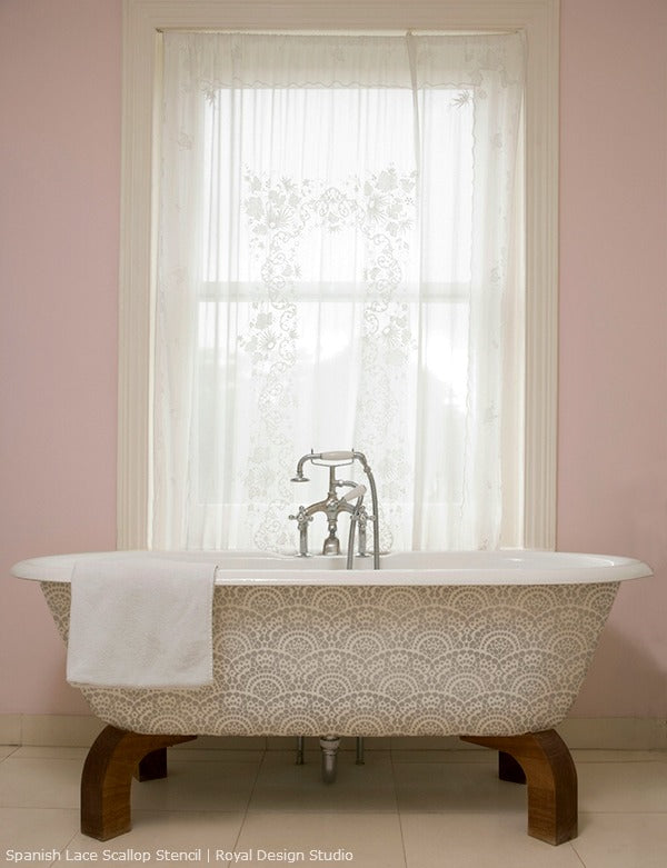 Great Room Ideas Using the Color Pink | Royal Design Studio Stencils