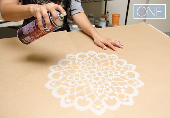 How to stencil tutorial with Lace Doily stencils from Royal Design Studio