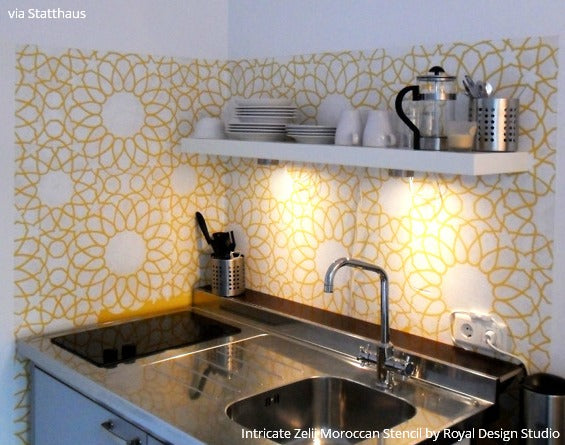Statt Hotel (Statthaus) In Germany Shared Their Design Dilemma. U201cFor Years  People Tried To Talk Me Into Tiling The Kitchen Walls (more Practical!) But  As ...