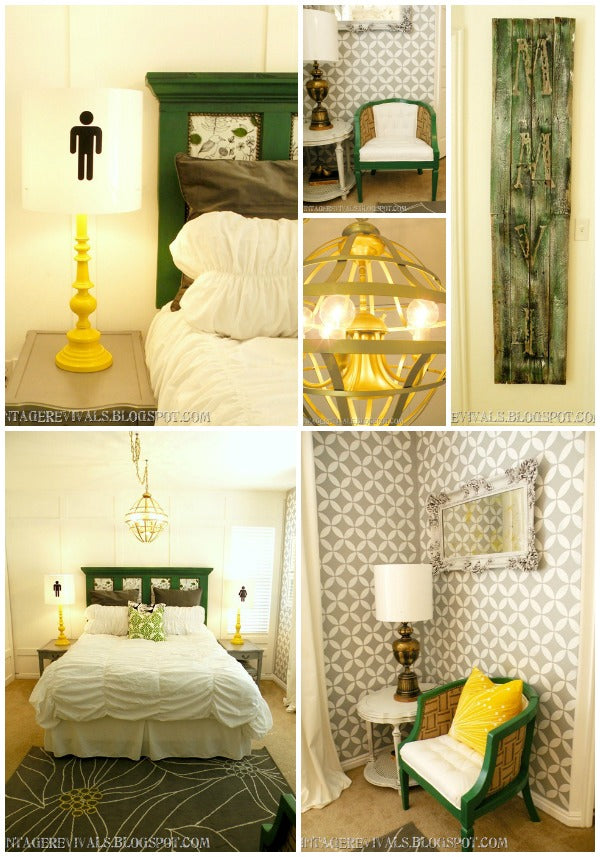 Stencil projects from Vintage Revivals Epic Room Makeover