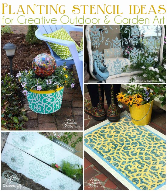 Use Stencils to create amazing custom outdoor and garden stencil art. Royal Design Studio Stencils