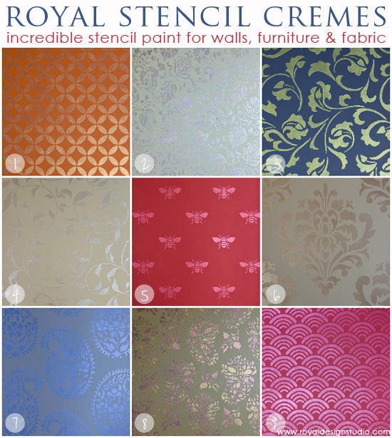 Royal Stencil Cremes for stenciling