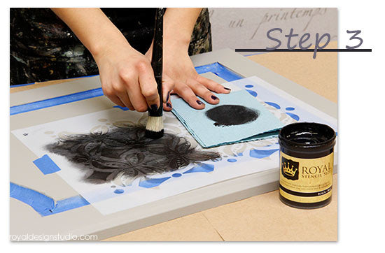 How to stencil over Chalk Paint with Royal Stencil Size from Royal Design Studio