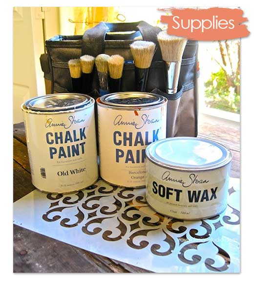Chalk Paint® decorative paint and stencil supplies for furniture stenciling with Royal Design Studio stencils