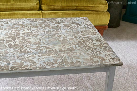 ... Stenciled Coffee Table Tutorial. After Distressing ...