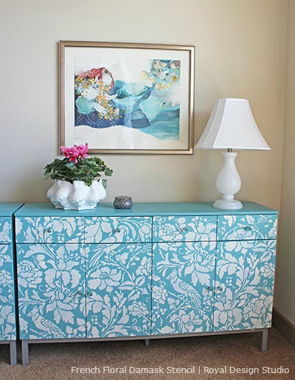 Allover Stencil Patterns on Furniture | Royal Design Studio