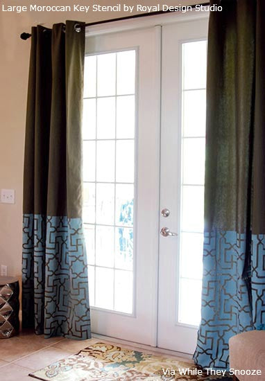 Stenciling Fabric Curtains | Royal Design Studio