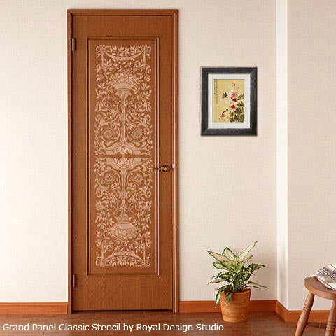 Stenciled Door Insets | Royal Design Studio Stencils