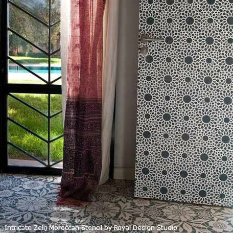 Stenciling an Allover Pattern on a Door | Royal Design Studio Stencils