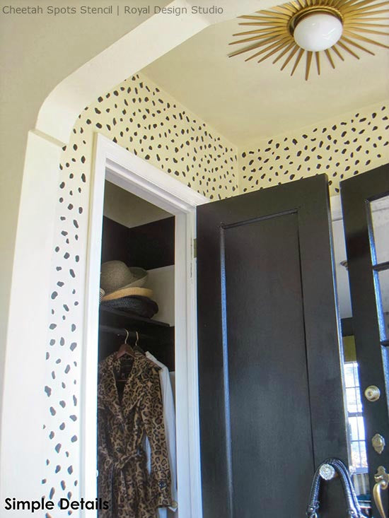 Stenciling a Wall for an Inviting Foyer Entry | Royal Design Studio