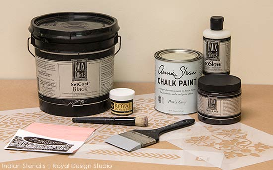 Use Stencil Supplies to create your own exotic Indian accent wall - Royal Design Studio