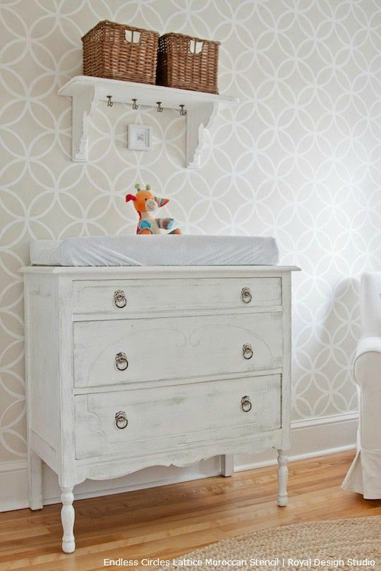 Gorgeous Nursery Ideas for All Color Schemes | Stencil DIY Projects by Royal Design Studio