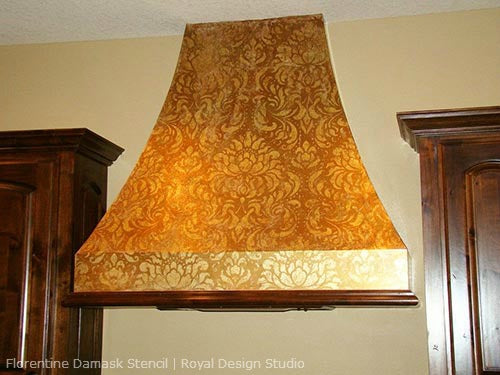 Stenciling a Range Hood with Metallics | Royal Design Studio