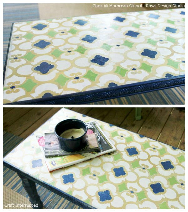 Stenciled Table Top Ideas with Royal Design Studio