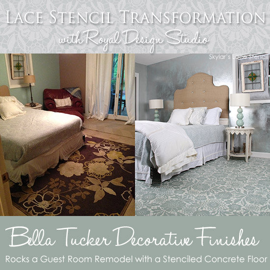 Lace Stencils And Patterns For Painted Floors