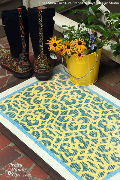 11 DIY Outdoor Stencil Projects for Summertime Fun using Royal Design Studio Stencils