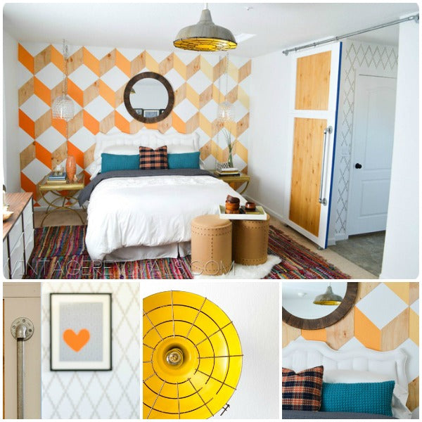 Nova Trellis wall stencil in Epic Room Makeover