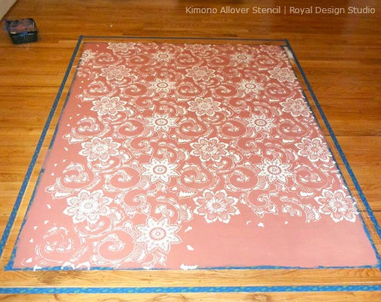 Giving an outdated floor stylish stencil style | Royal Design Studio