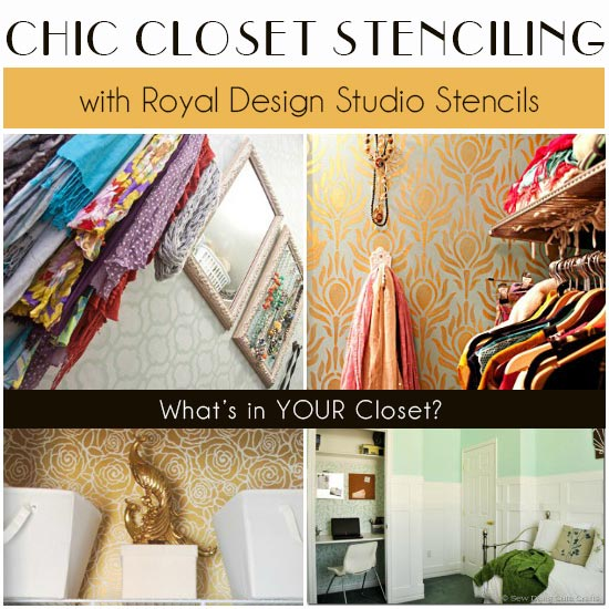 Great stencil ideas for stenciling closets with stencils from Royal Design Studio
