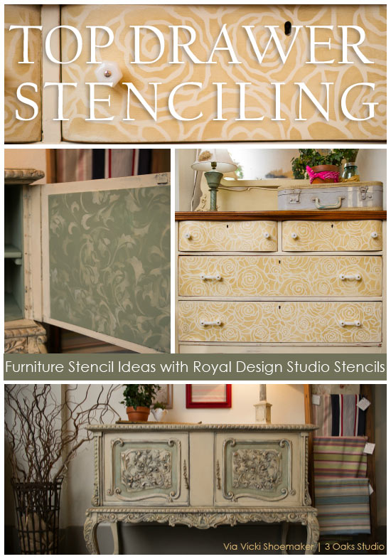 Furniture Stenciling Ideas with Royal Design Studio