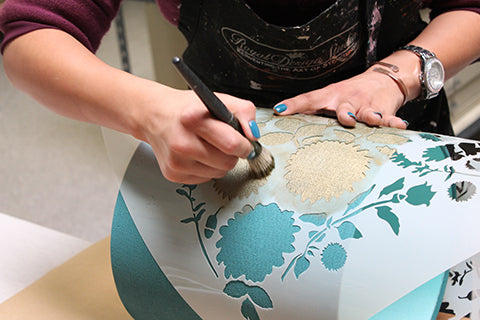 How to Keep Paint from Seeping Under Your Stencil | Royal Design Studio