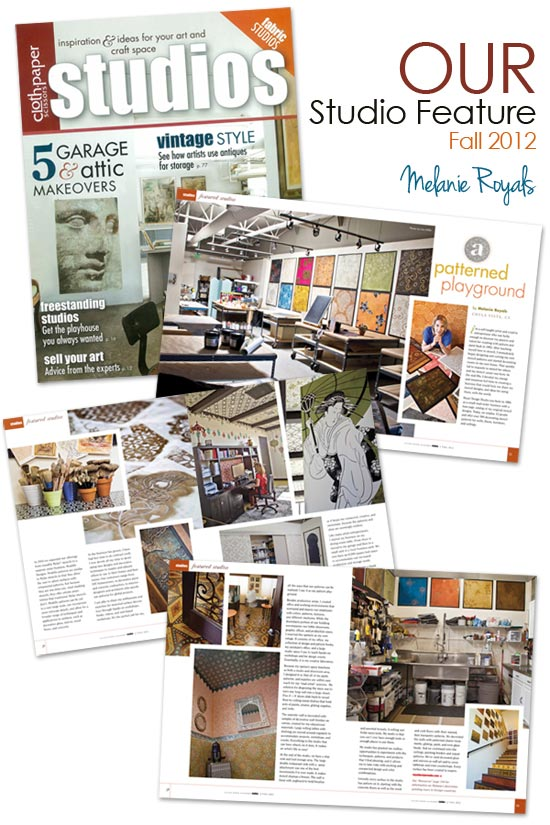 Royal Design Stencils feature in Studios Magazine