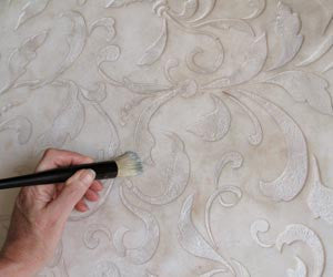 How To Stencil Using Plasters and Textured Finishes
