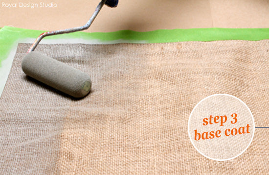 Stencil a Fall Table Runner How-To from Royal Design Studio