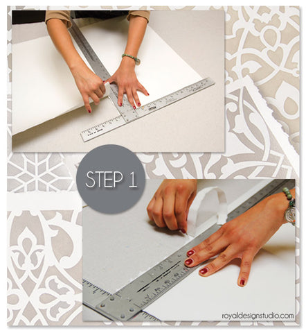 How to prepare watercolor paper for stenciling