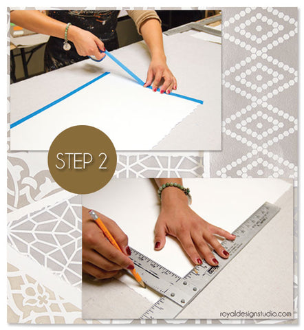 Setting up paper for stencils