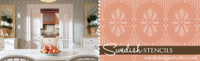Scandinavian Wall and Border Stencils - Royal Design Studio Stencils