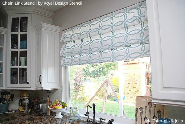 Pull It Together with these 12 Stenciled DIY Curtains from Royal Design Studio