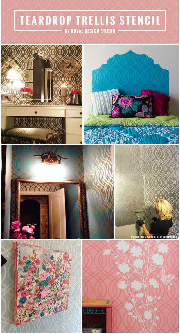 Weave Together Some Style with Trendy Trellis Stencils - 6 DIY Decor Ideas using Royal Design Studio Wall Stencils