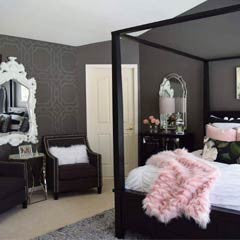 bedroom wall stencil designs to sleep in style - Bedroom Stencil Ideas