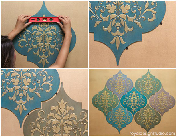 How To Stencil Moroccan Dreams Wall Art Wood Shapes Wall
