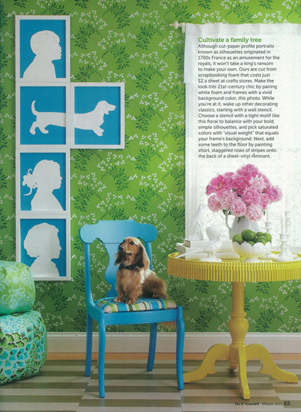 Do It Yourself Home Decorating Ideas: Better Homes And Gardens Cover Features Our Allover Floral