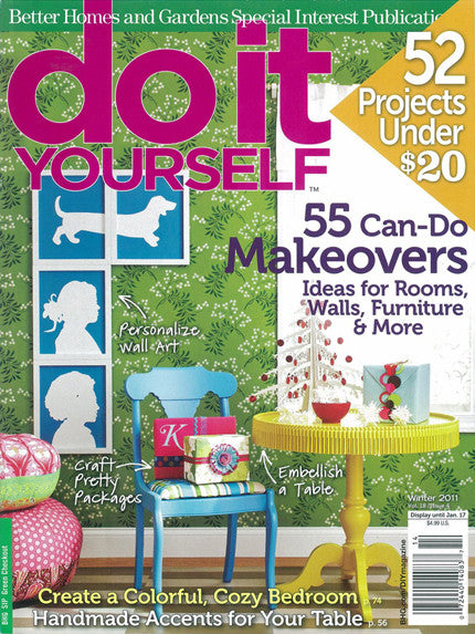 Better Homes And Gardens Cover Features Our Allover Floral Stencil Royal Design Studio Stencils