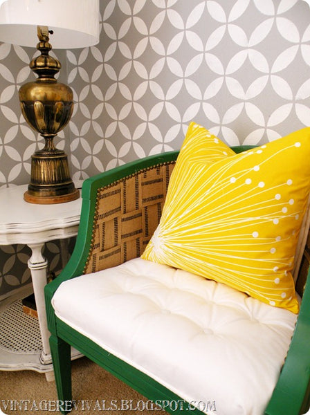wall stenciling room makeover