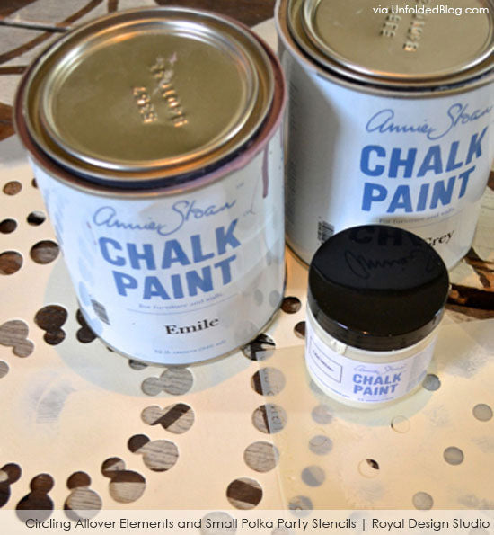 Stenciling with Annie Sloan Chalk Paint