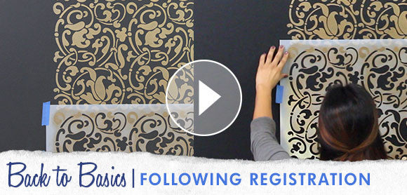 How to Repeat Stencil Designs using Registration Marks Video Tutorial
