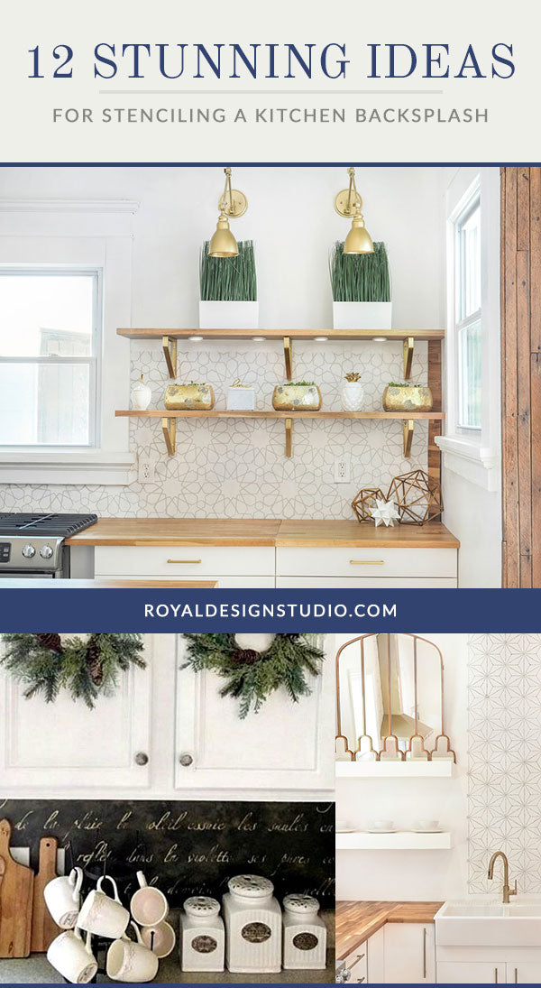 12 Stunning Ideas for Stenciling a DIY Kitchen Backsplash ...